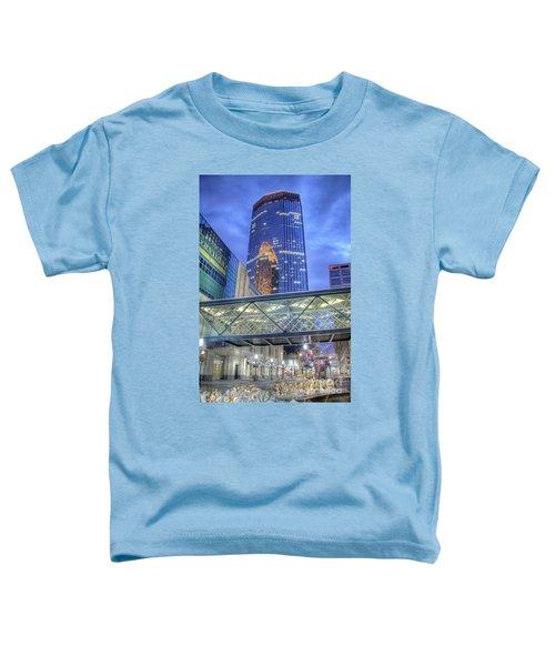 Minneapolis Skyline Photography Nicollet Mall Winter Evening Toddler T-Shirt