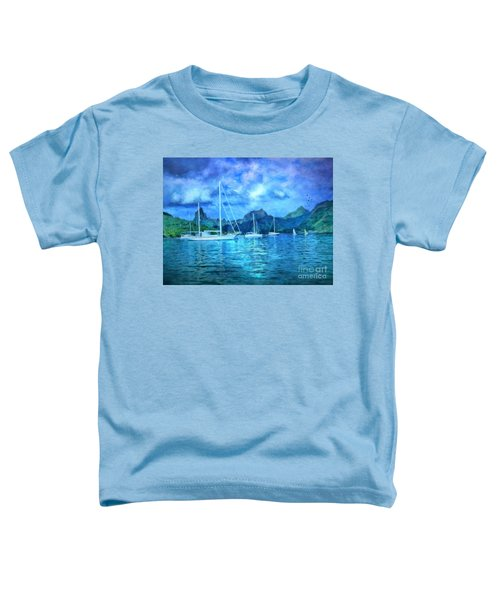 Moonrise In Mo'orea Toddler T-Shirt
