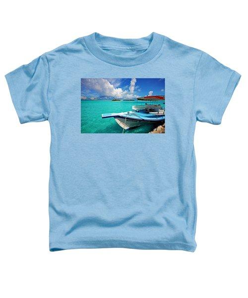 Moored Dhoni At Sun Island. Maldives Toddler T-Shirt