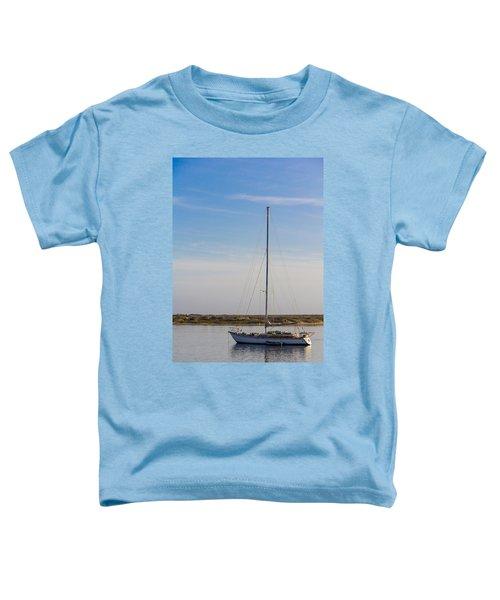 Sailboat At Anchor In Morro Bay Toddler T-Shirt