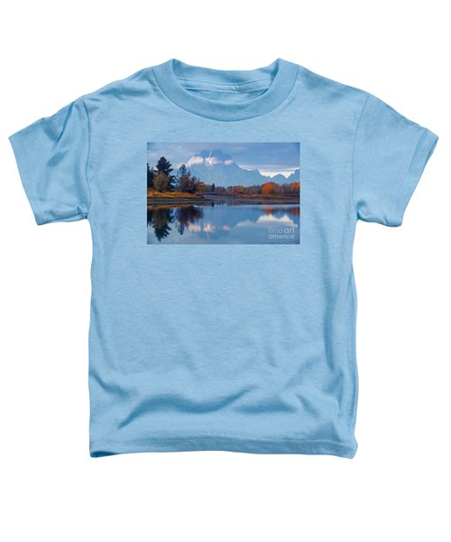 Mount Moran From Oxbow Bend In Autumn Toddler T-Shirt