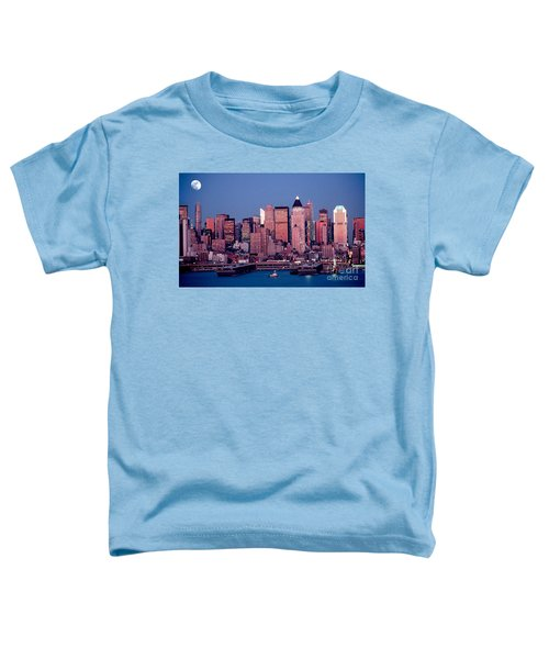 New York Skyline At Dusk Toddler T-Shirt