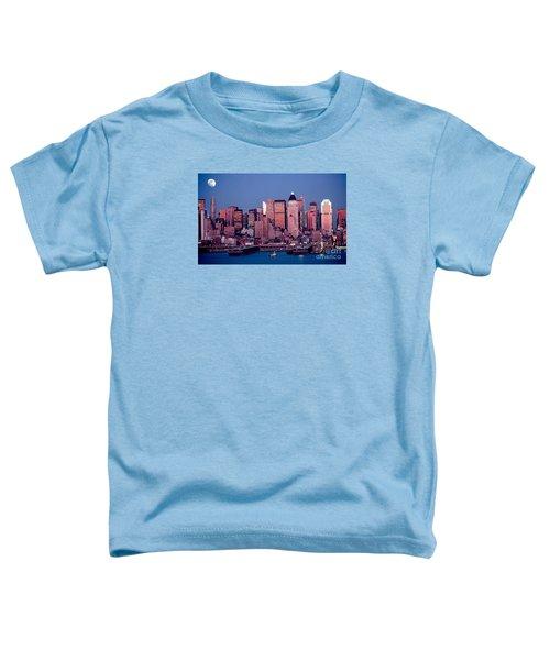 New York Skyline At Dusk Toddler T-Shirt