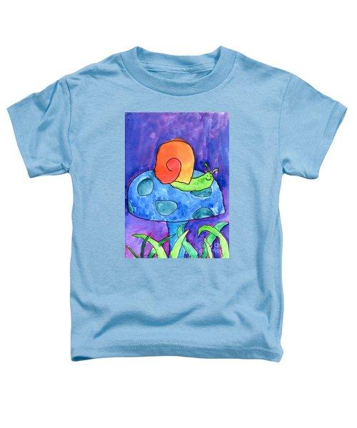 Orange Snail Toddler T-Shirt