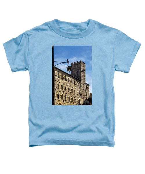 Palazzo Pretorio And The Tower Of Little Pig Toddler T-Shirt