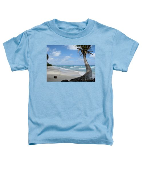 Palm Tree On The Beach Toddler T-Shirt