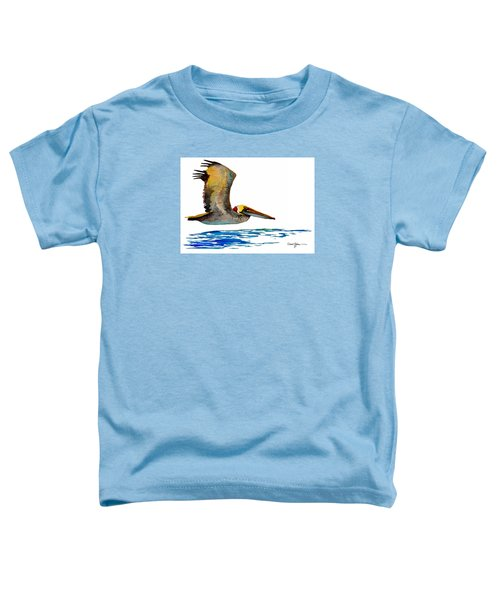 Da137 Pelican Over Water By Daniel Adams Toddler T-Shirt