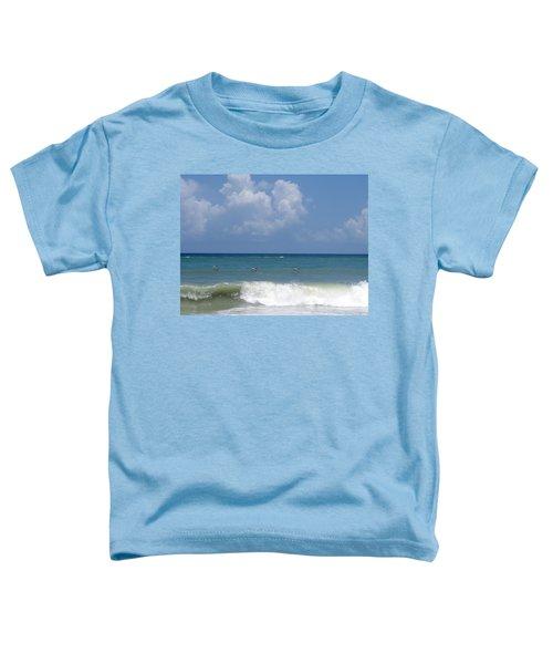 Pelicans Over The Ocean Toddler T-Shirt