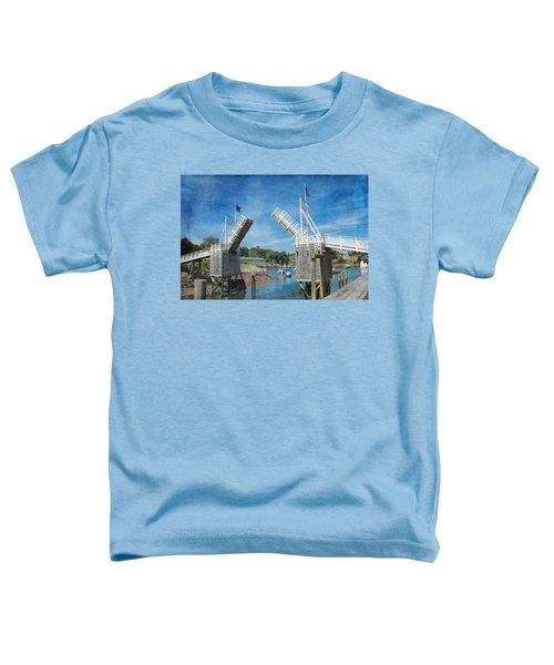 Perkins Cove Drawbridge Textured Toddler T-Shirt