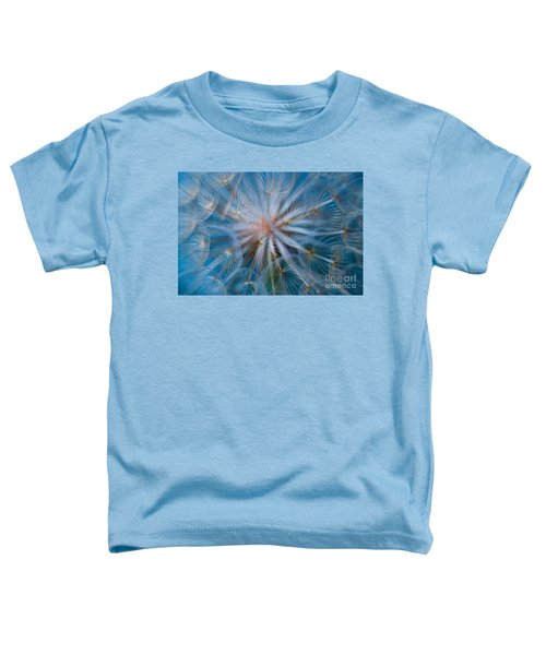 Toddler T-Shirt featuring the photograph Puff-ball In Blue by Jaroslaw Blaminsky