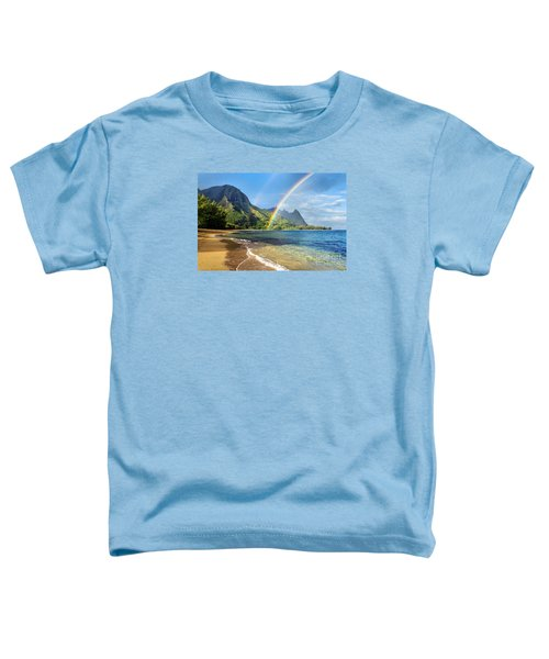 Rainbow Over Haena Beach Toddler T-Shirt