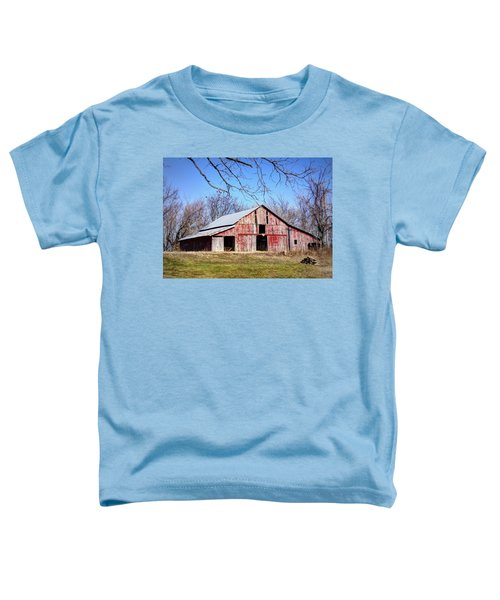 Red Barn On The Hill Toddler T-Shirt