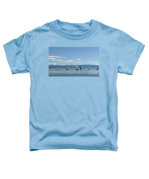 Sailboats In Blue Toddler T-Shirt