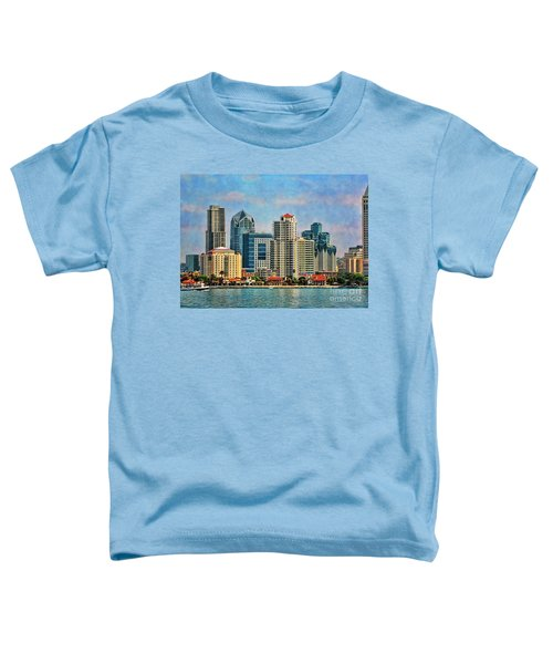 San Diego Skyline Toddler T-Shirt by Peggy Hughes