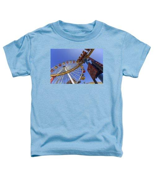 Santa Monica Pier Pacific Plunge Toddler T-Shirt