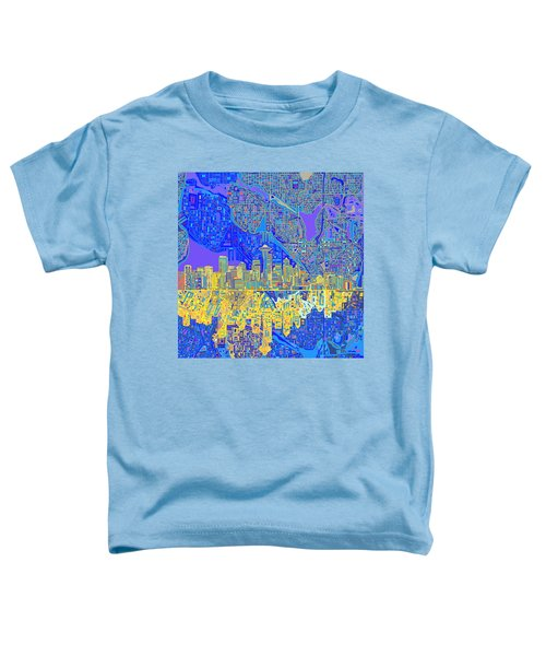 Seattle Skyline Abstract 6 Toddler T-Shirt