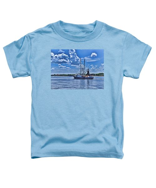 Shrimp Boat Heading To Sea Toddler T-Shirt
