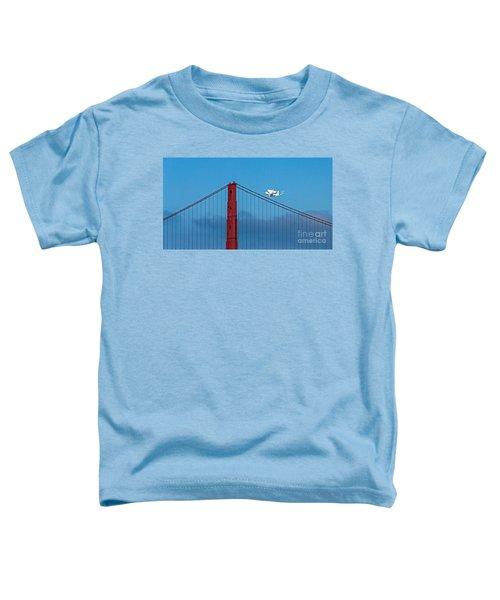 Shuttle Endeavour At The Golden Gate Toddler T-Shirt