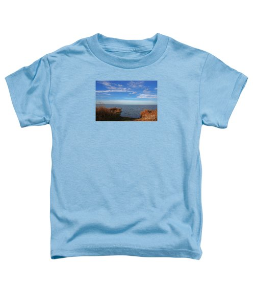 Toddler T-Shirt featuring the photograph Sky Water And Grasses by Nareeta Martin