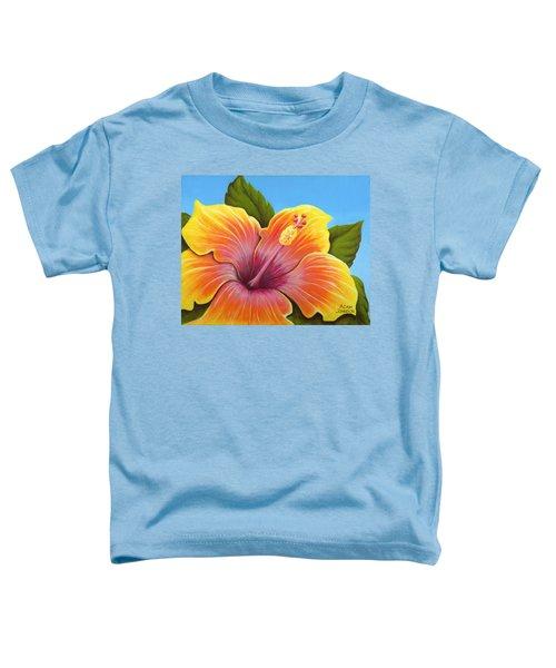 Sunburst Hibiscus Toddler T-Shirt
