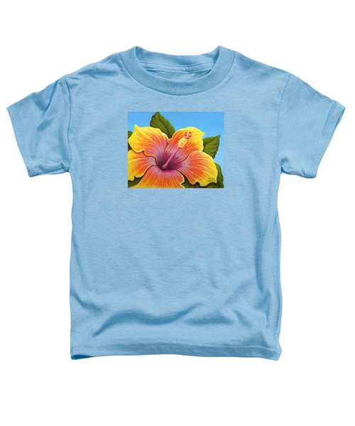 Sunburst Hibiscus Toddler T-Shirt