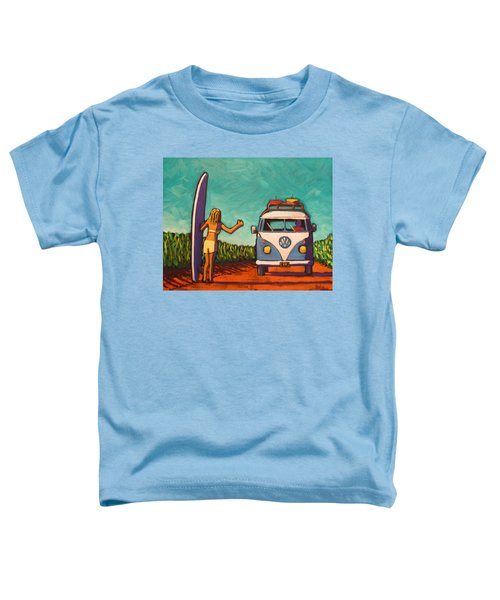 Surfer Girl And Vw Bus Toddler T-Shirt