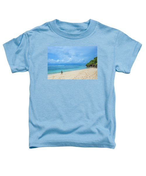 Surfer On The Tropical Beach Toddler T-Shirt