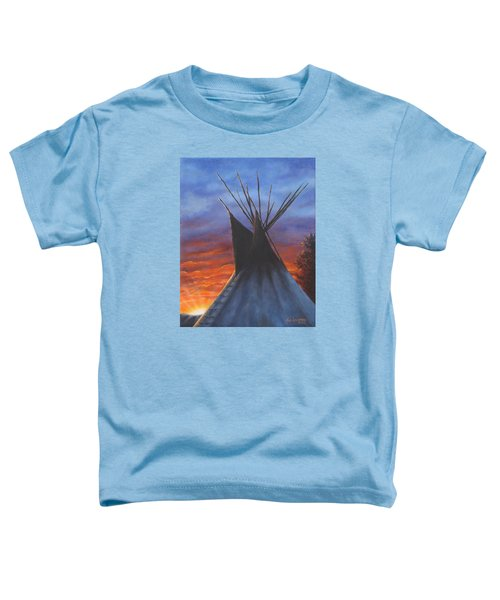 Teepee At Sunset Part 2 Toddler T-Shirt