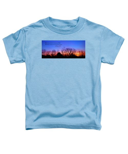 The Heavens Declare Toddler T-Shirt