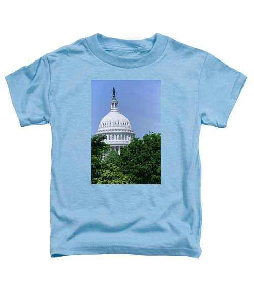 Trees In Spring And U.s. Capitol Dome Toddler T-Shirt
