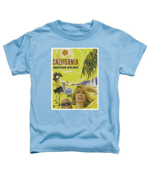 Toddler T-Shirt featuring the digital art Vintage California Travel Poster by Joy McKenzie
