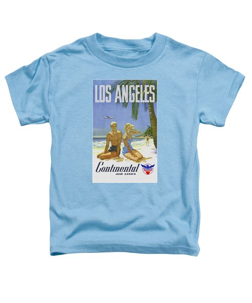 Toddler T-Shirt featuring the digital art Vintage Los Angeles Travel Poster by Joy McKenzie