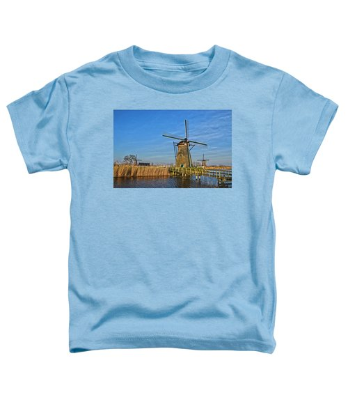 Windmills And Bridge Near Kinderdijk Toddler T-Shirt