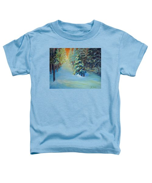 Toddler T-Shirt featuring the painting A Road Less Travelled by Joanne Smoley