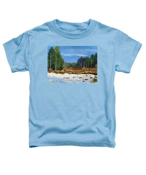Winter Marsh In Hooksett Toddler T-Shirt