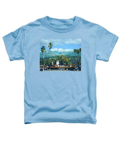 Winter Paradise Santa Barbara Toddler T-Shirt