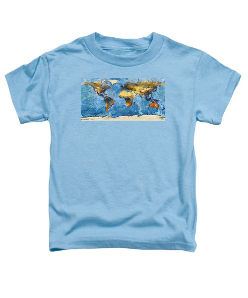 World Map Painterly Toddler T-Shirt