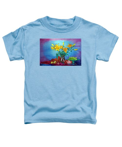 Yellow Lily In A Vase Toddler T-Shirt