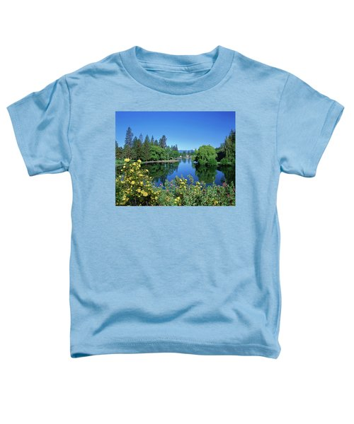 Yellow Roses By Mirror Pond Toddler T-Shirt