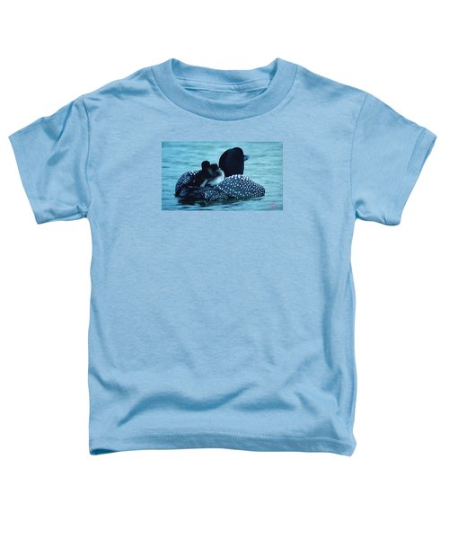 Toddler T-Shirt featuring the photograph Duck Family Joy In The Lake  by Colette V Hera  Guggenheim