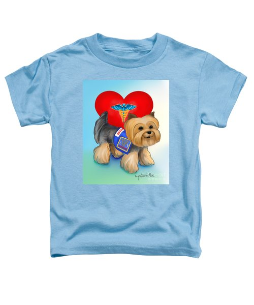 Medical Alert Yorkie Toddler T-Shirt