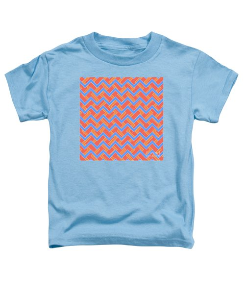 Abstract Orange, Red And Cyan Pattern For Home Decoration Toddler T-Shirt
