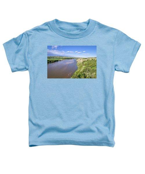 aerial view of Niobrara River in Nebraska Sand Hills Toddler T-Shirt
