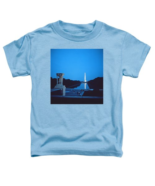 Night View Of The Washington Monument Across The National Mall Toddler T-Shirt by American School