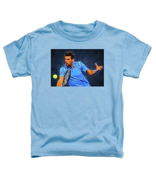 Novak Djokovic Toddler T-Shirt by Semih Yurdabak