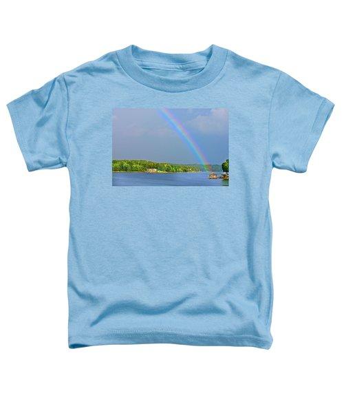 Smith Mountain Lake Rainbow Toddler T-Shirt