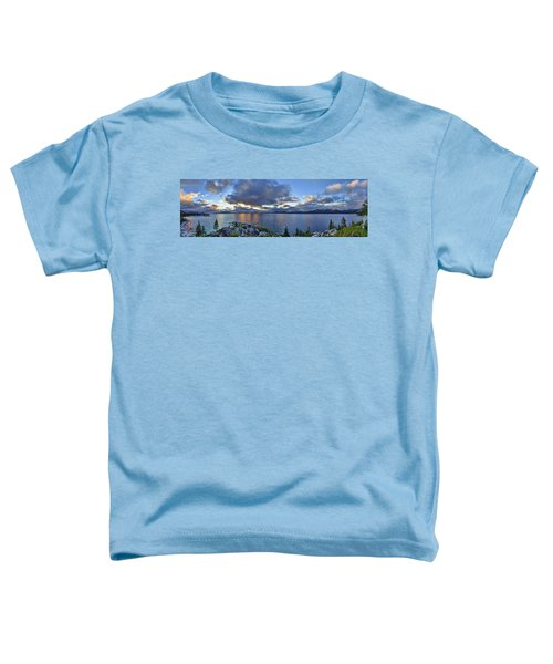 Tahoe Sunset Panorama Toddler T-Shirt