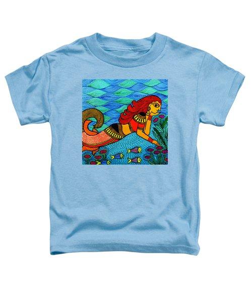 The Mermaid In Madhubani Toddler T-Shirt