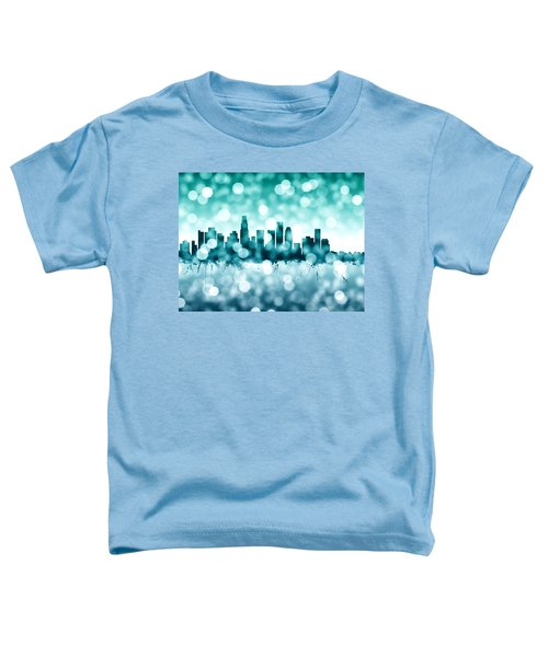 Los Angeles California Skyline Toddler T-Shirt by Michael Tompsett