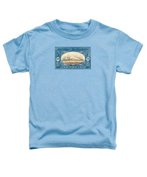1920 Armenian Mount Ararat Stamp Toddler T-Shirt by Historic Image